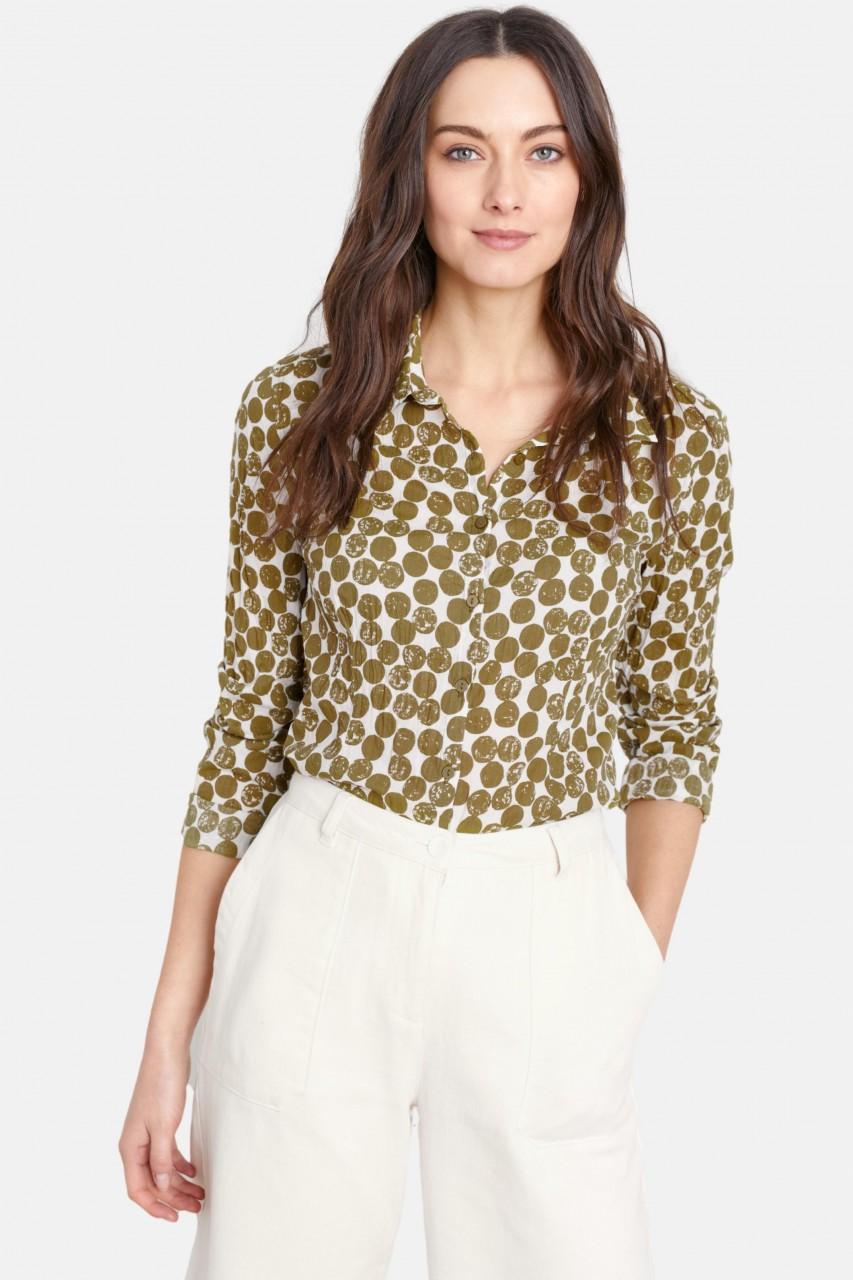 Seasalt Cornwall Larissa Shirt Textured Spot Cut Stem Damen Bluse