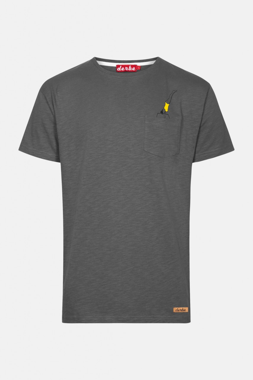 Derbe Jump Herren T-Shirt Castlerock Dunkelgrau