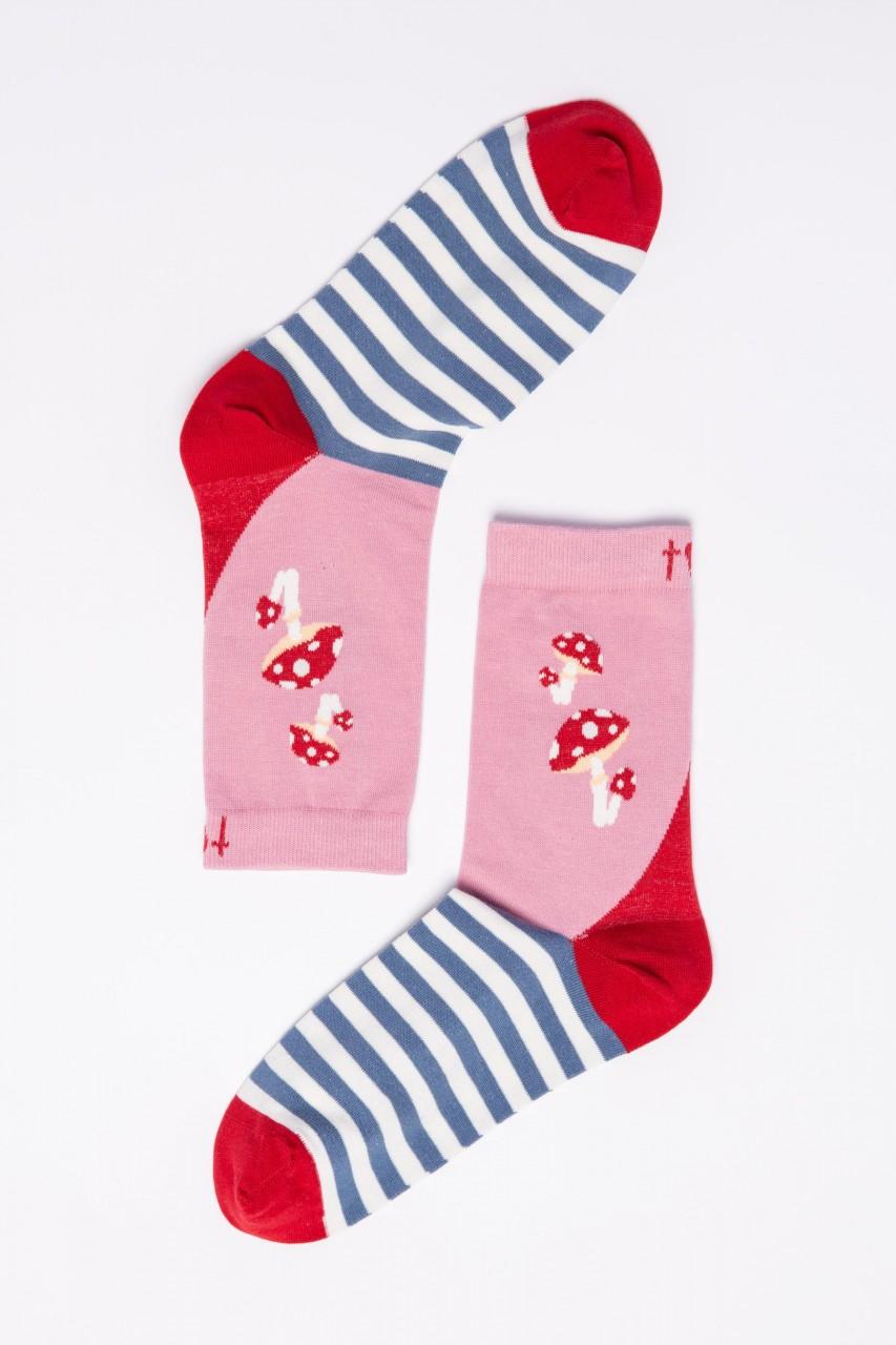 Blutsgeschwister Damen Socken Sensational Steps Ludi Love Gartenzwerg Rosa