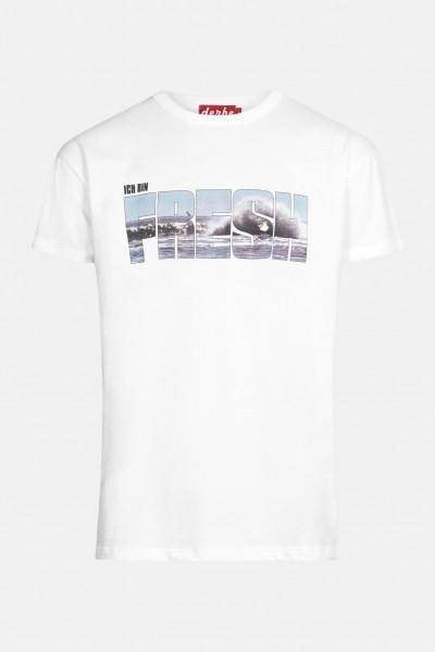 Derbe Fresh Herren Shirt Weiß Welle