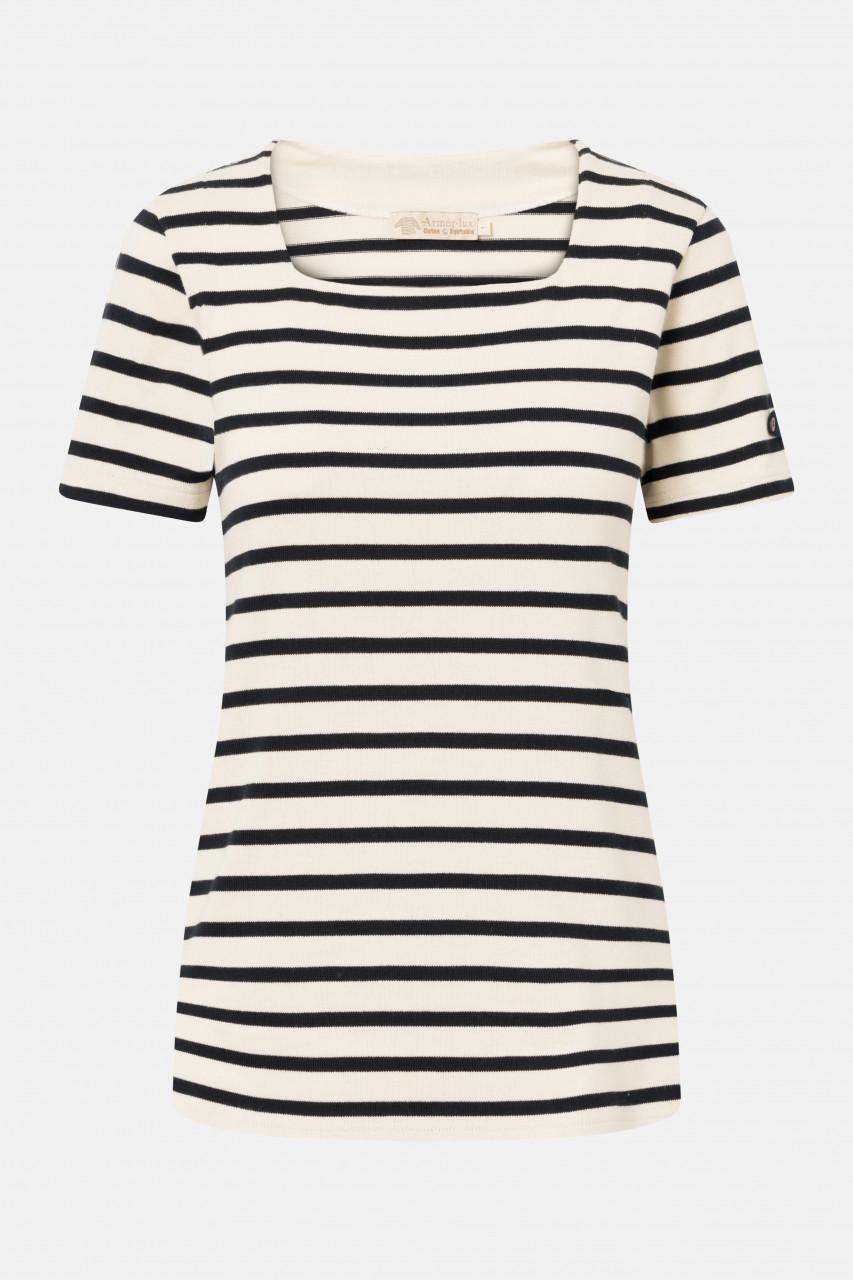 Armor Lux Fair-Trade Streifenshirt Coursive kurzarm Damen