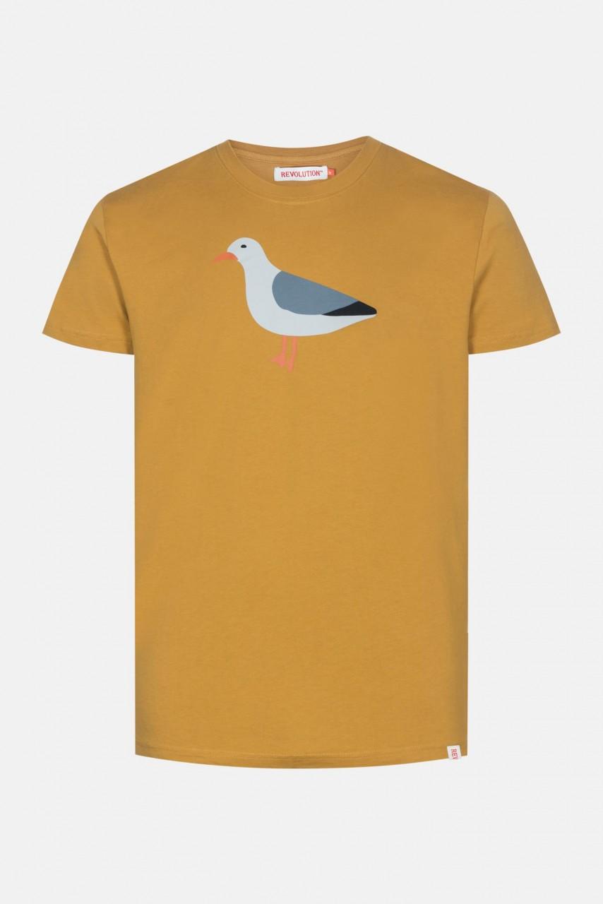RVLT Revolution Sea Herren T-Shirt Yellow Möwe Gelb