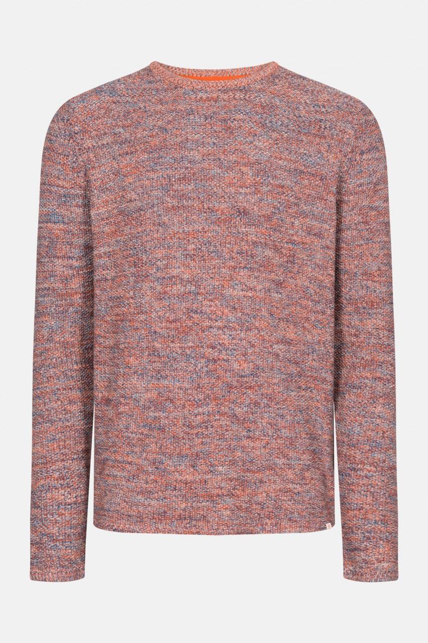 RVLT Revolution Multi Colored Knit Herren Pullover Orange Blau