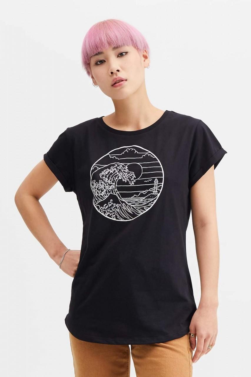 Hafendieb Waterkant Frauen T-Shirt schwarz