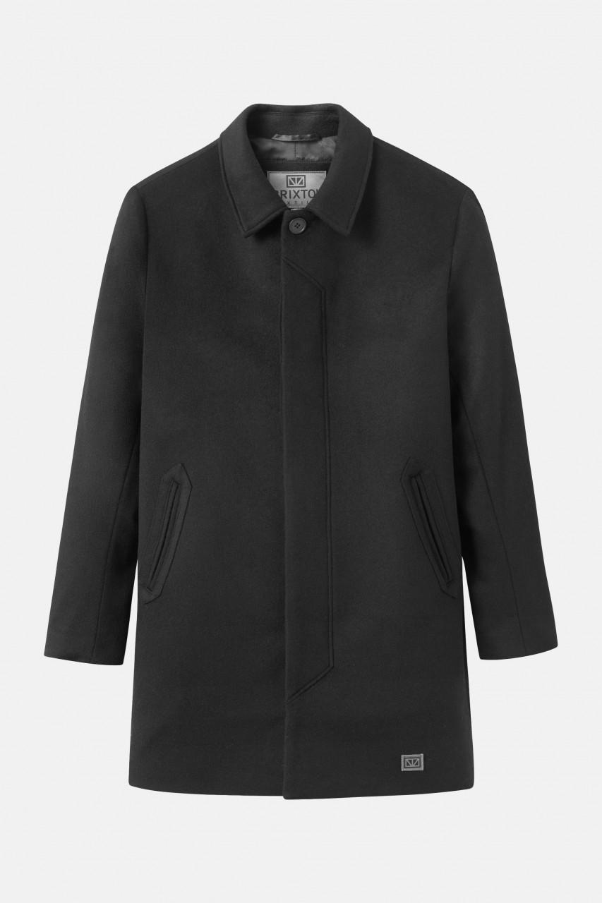 Brixtol T-Coat Schwarz Woll-Mantel Herren