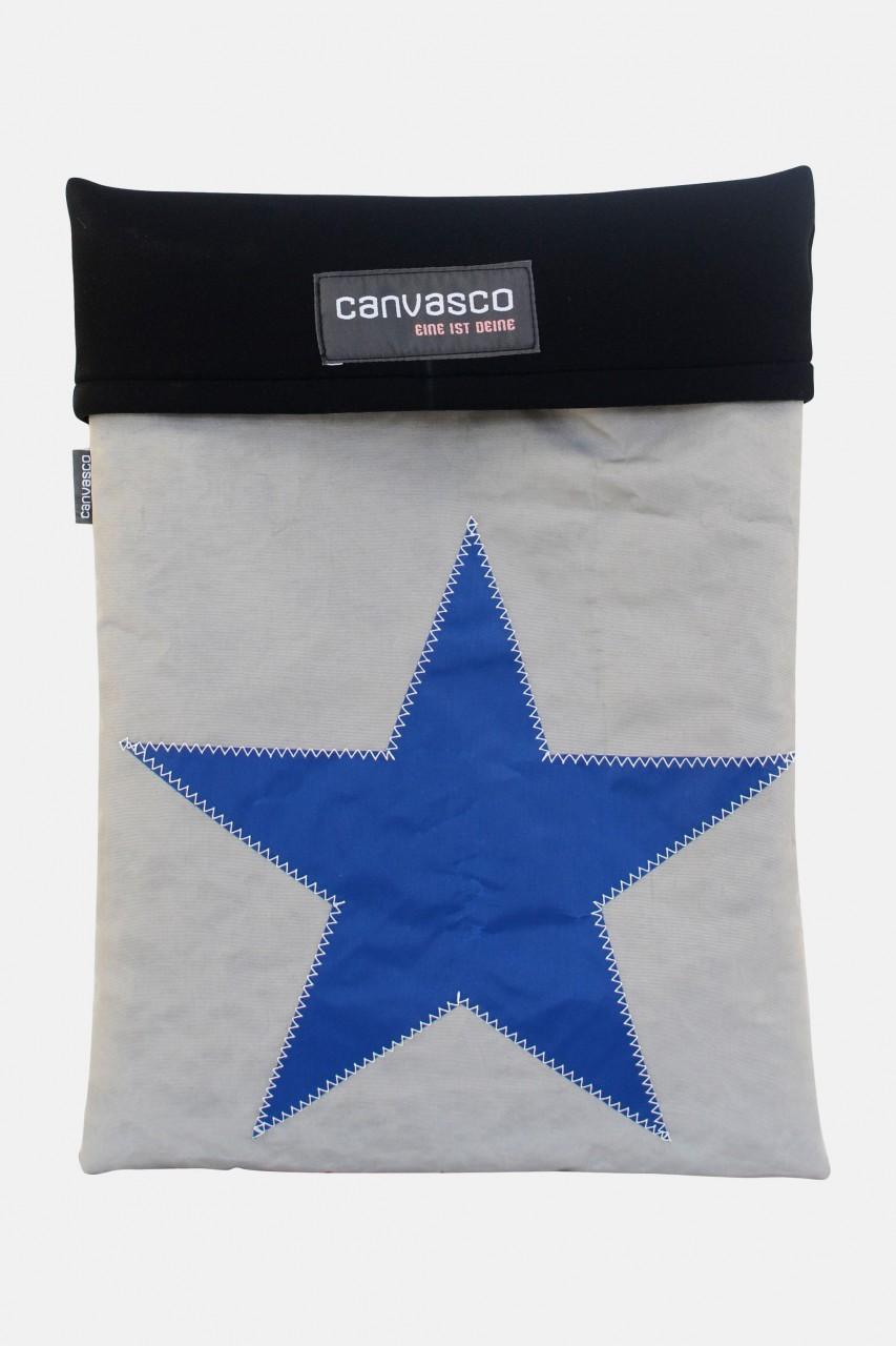 Canvasco Laptop 15 Tasche Stern Grau-Blau