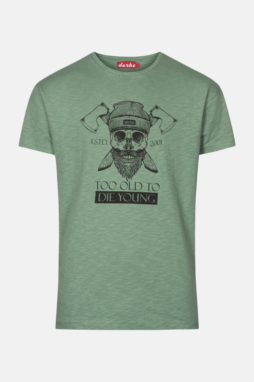 Derbe Too Old To Die Young Herren T-Shirt Grün