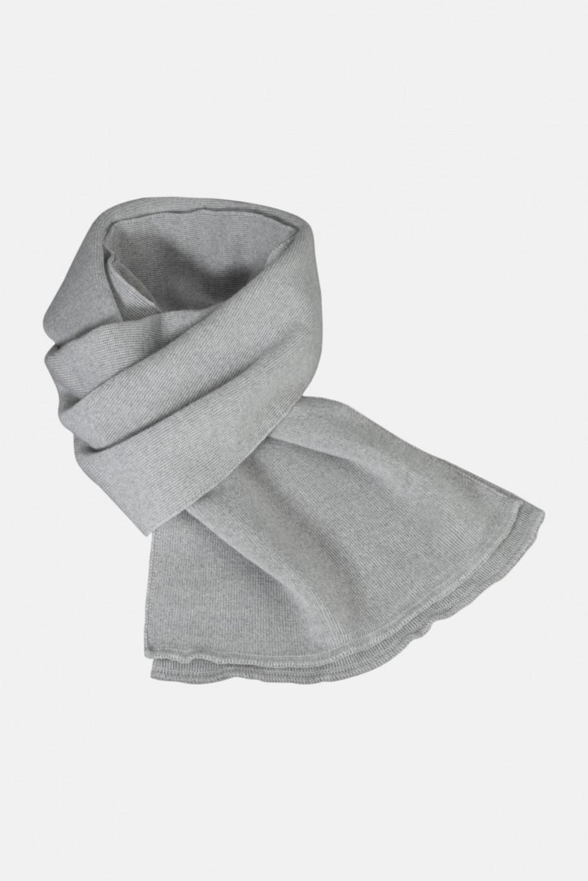 Strickschal aus 100% Schurwolle - Merino - grau