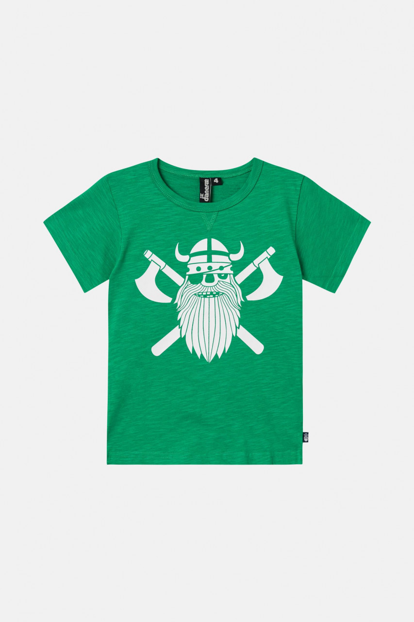 Danefae Sloppy Joe Kinder T-Shirt Wikinger Grün