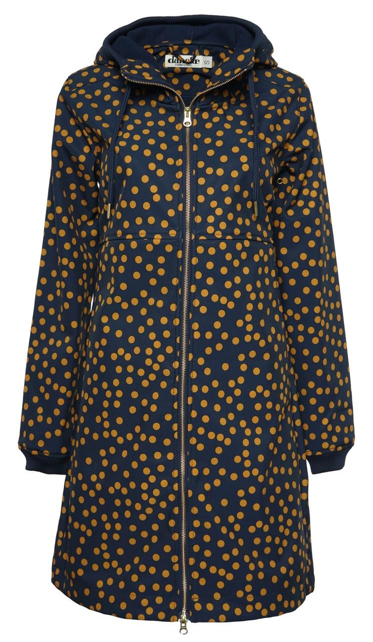 Danefae Line Softshell Jacke Damen Blau Goldgelb Gepunktet