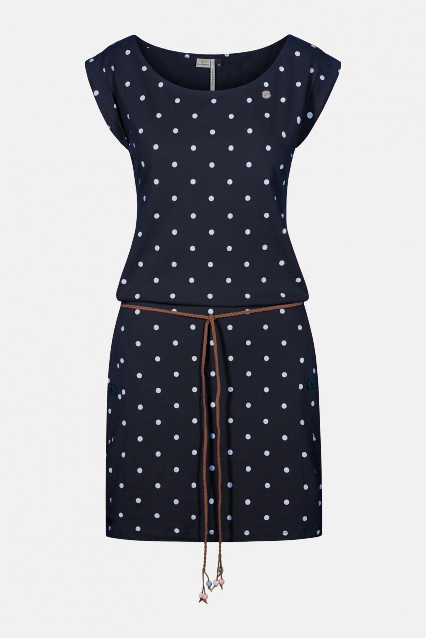 Ragwear Tag Dots Navy Damen Kleid Dunkelblau Punkte