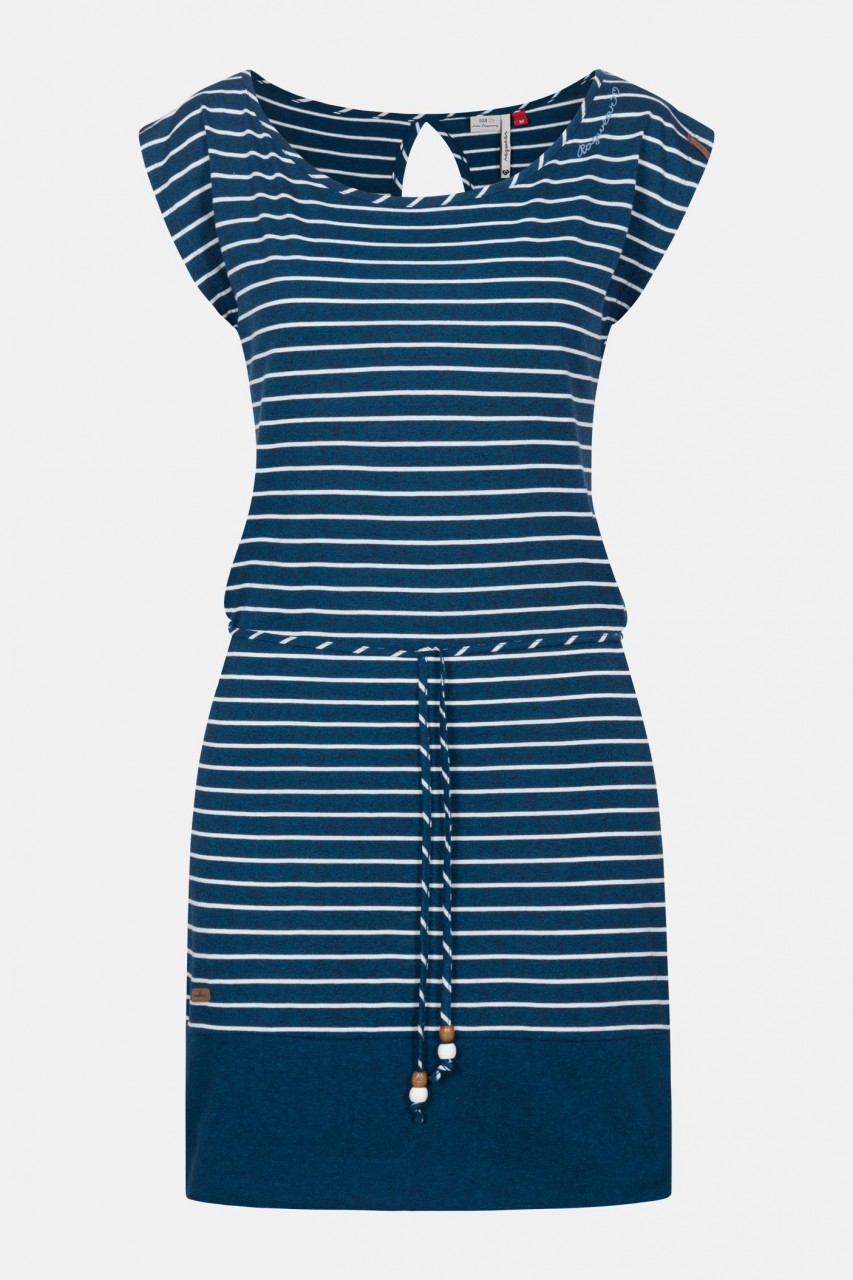 Ragwear Soho Stripes Navy Damen Kleid Dunkleblau