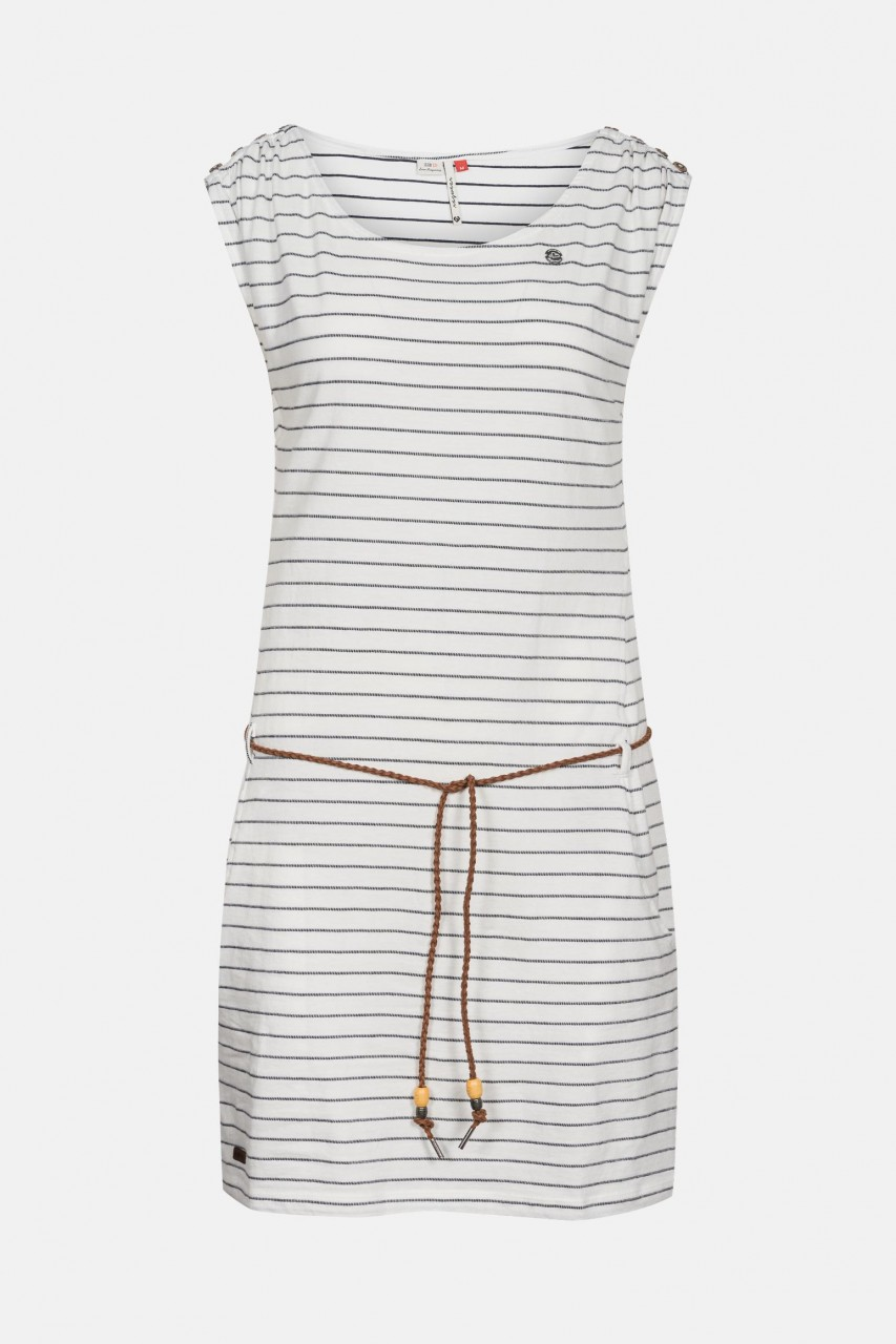 Ragwear Chego Damen Kleid Streifen Weiß
