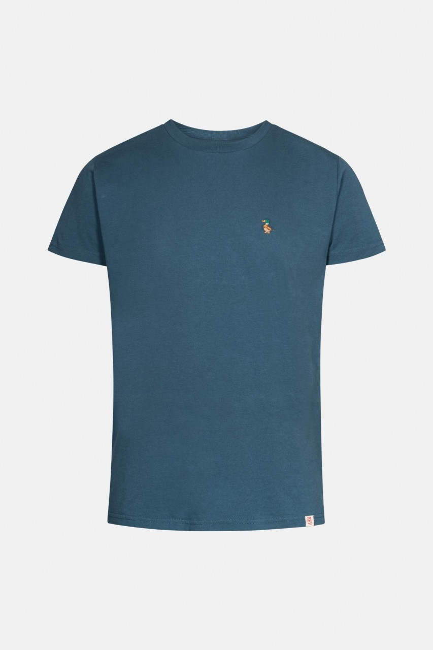 RVLT Revolution Herren T-Shirt Dust Blau Ente Stick