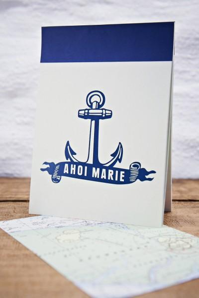 Ahoi Marie Notizblock großer Anker A5