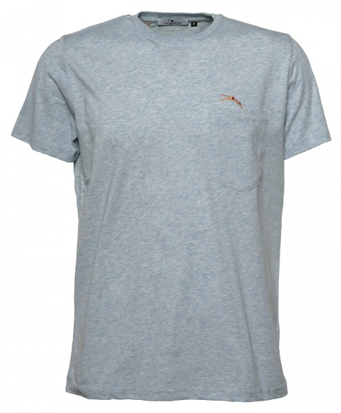 0d64ed29853c3d RVLT Revolution Herren T-Shirt Hellblau Melange Schwimmer | Hanseheld.de
