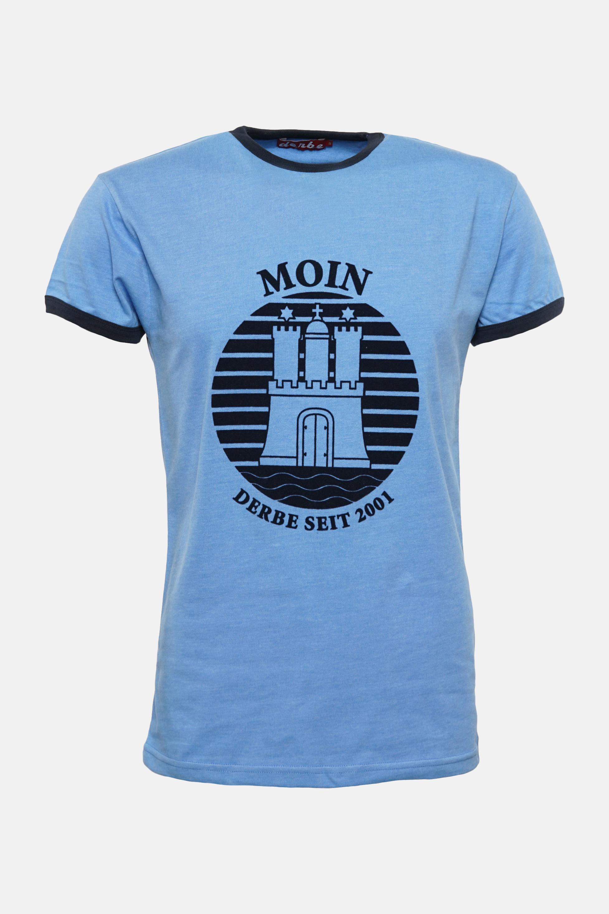 83e12399fae259 Derbe T-Shirt Moin Hamburg Herren Blau | Hanseheld.de