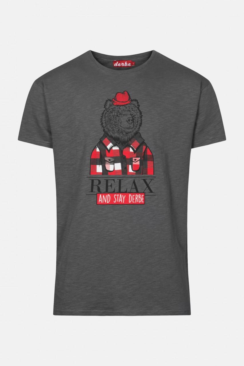 Derbe Relax Grau T-Shirt Herren Bär