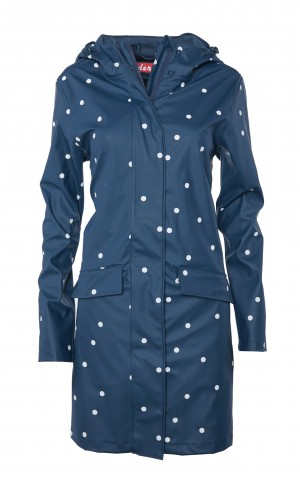 Derbe Fun Dots Blau Punkte Damen Regenmantel